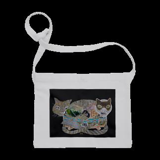 Print items/山中綾子のおくりもの(猫箱) Sacoches