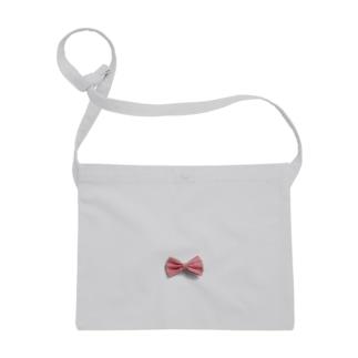 Ribbon-corsage*のピンクリボン Sacoches