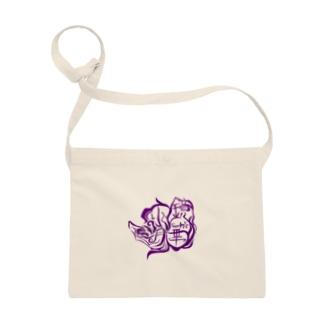 【ウェブ限定】鏡華水月公式ロゴ入りグッズ【紫】 Sacoches