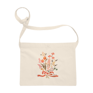 *momochy shop*の花束とうさぎ Sacoches