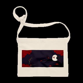 シマエナガの「ナガオくん」公式グッズ販売ページの花札「梅とナガオくん」紫 Sacoches
