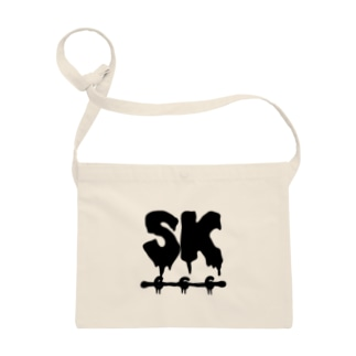 SK Strikethrough(666) Clothing - First Line White Sacoches