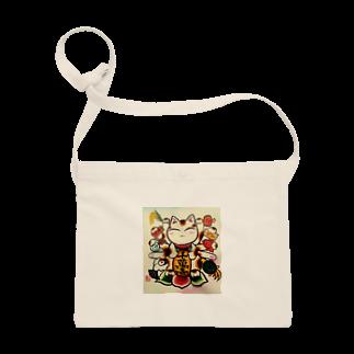 Torahamu39の開運縁起物招き猫 サコッシュ