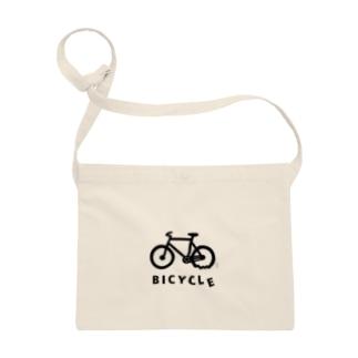 パンクした自転車 サコッシュ