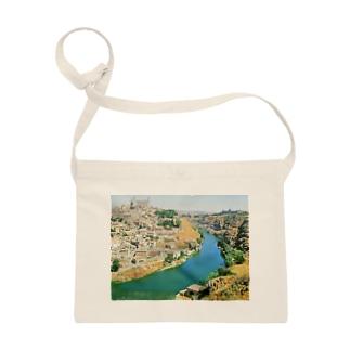 スペイン:トレドの遠景 Spain: View of Toledo Sacoches