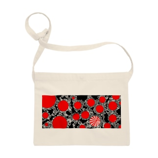 赤黒白べにたんぐる水玉 Sacoches