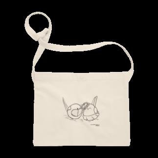 シマエナガの「ナガオくん」公式グッズ販売ページのナガオくんとシマエちゃん(白) サコッシュ