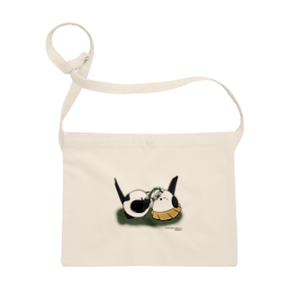 シマエナガの「ナガオくん」公式グッズ販売ページのナガオくんとシマエちゃん Sacoches