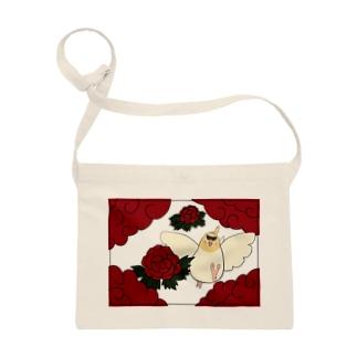 花札「牡丹とオカメ」 Sacoche