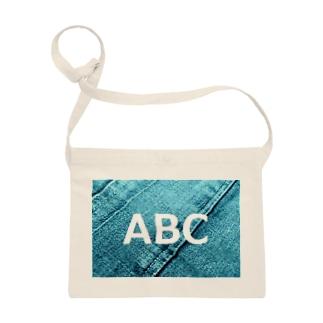 ABC  デニム サコッシュ