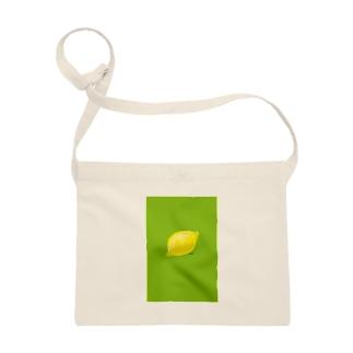 檸檬 緑 サコッシュ