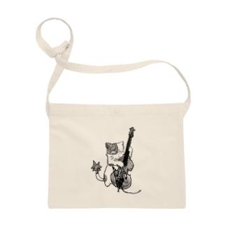 ジャズ猫(ウッドベース) Sacoches