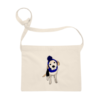 Dog Drawer Drawn by Dogのポンポンニット帽 サコッシュ