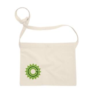 Green Cog Cog Logo サコッシュ