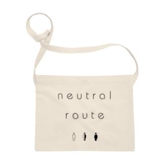 neutral route [Black] サコッシュ