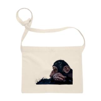 考えるチンパンジー Sacoche