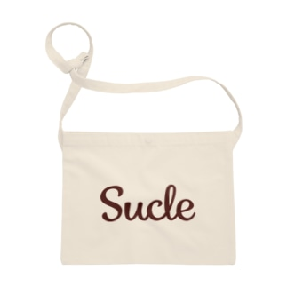 Sucle茶色いロゴ サコッシュ