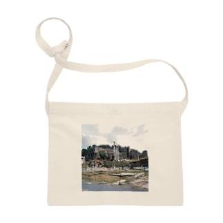 イタリア:フォロ・ロマーノのカストルとポルックス神殿が見える風景写真 Italy: view of Foro Romano (Tempio dei Dioscuri) Sacoches