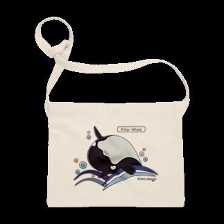 Kinkadesign -可愛くてカラフルな海洋生物をもっと身近に-のシャチ_海洋生物(うみのいきもの) サコッシュ