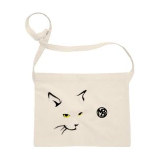 簡潔なる猫の布かばん・明色向け Sacoches