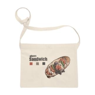 カプレーゼのオープンサンドイッチ Sacoches