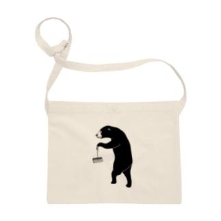 愉快なマレーグマ 4 クマ動物イラスト サコッシュ