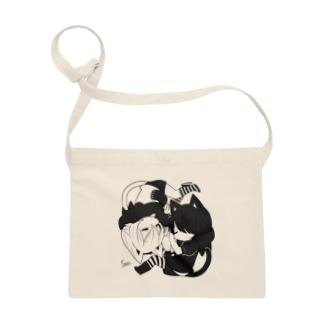 黒猫少年と白猫少年(モノクロ) Sacoches