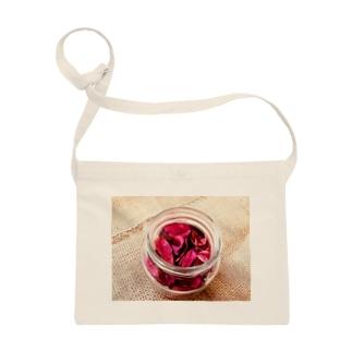 麻袋&赤い花1 Sacoches