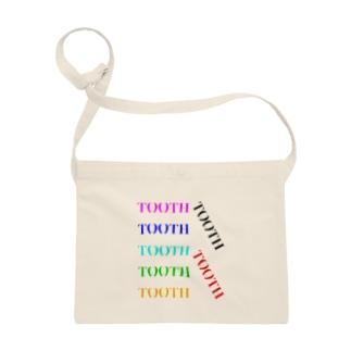 Tooth logoカラフル サコッシュ