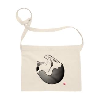 白黒猫:まんまる サコッシュ