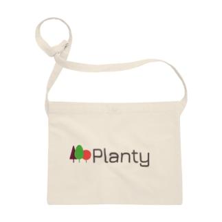 "Planty グッズ - 世界を向上させる大麻メディア ""プランティ""のロゴTシャツ Sacoches"