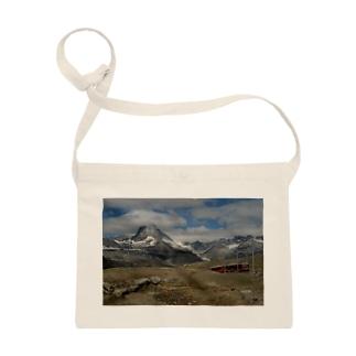 スイス山岳と電車のバッグ #002 Sacoches