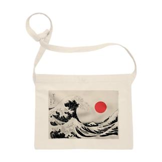 Japanese Sun×Hokusai Sacoches