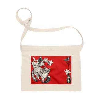 Retoro Japanese red Fox stationery Sacoches