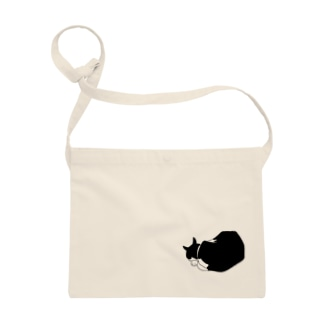 黒白猫おやすみ Sacoches