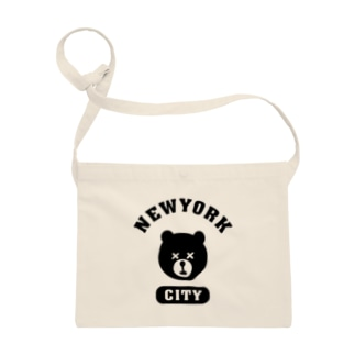NYC BEAR ニューヨークシティベアー 熊 カレッジロゴ Sacoches