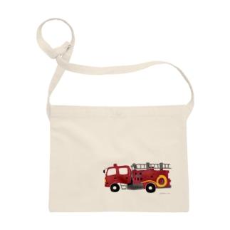 赤い消防車 Sacoches
