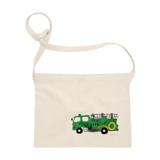 緑の消防車 Sacoches