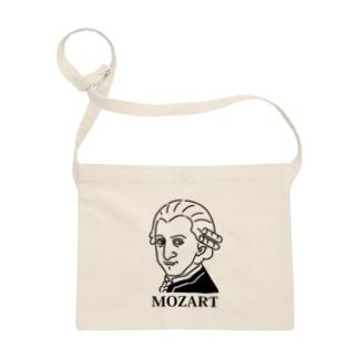 モーツアルト Mozart イラスト 音楽家 偉人アート モーツァルト ストリートファッション Sacoches