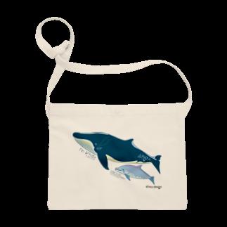 Kinkadesign うみのいきものカワイイShopのナガスクジラとミナミハンドウイルカ  Sacoches