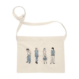 ゴンのファッションスナップ・ガール01ブルー Sacoches