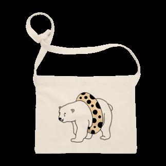 TakaJumpのTapioca White Bear Sacoches