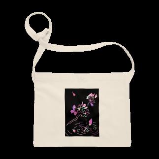 yuka sugita SAKUSHIの桜×スクラッチアート風 Sacoches