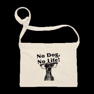 イロハのNo dog,No life! 黒 Sacoches