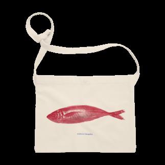 ホンマイのosakana tengoku サコッシュ red Sacoches