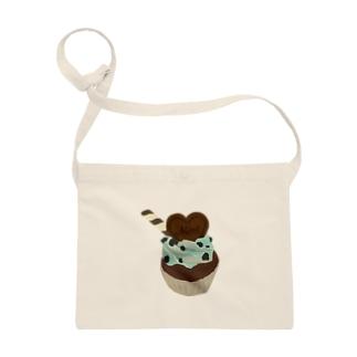 チョコミントカップケーキ Sacoches