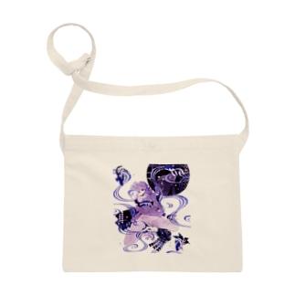和柄 青の金魚姫3 藤紫 キモノガール Sacoches