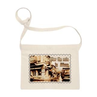 ギリシャ:雨上がりのアテネ★白地の製品だけご利用ください!! After the rain in Athens/Greece★Recommend for white base products only !! Sacoches