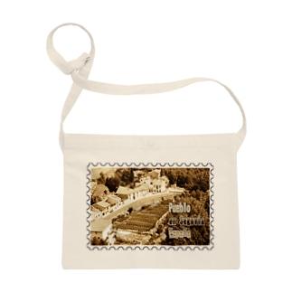 スペイン:セゴビア郊外の村★白地の製品だけご利用ください!! Spain: village in Segovia★Recommend for white base products only !! Sacoches