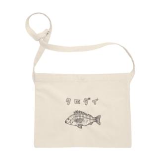 クロダイ 黒鯛 ゆるい魚イラスト 釣り チヌ Sacoches